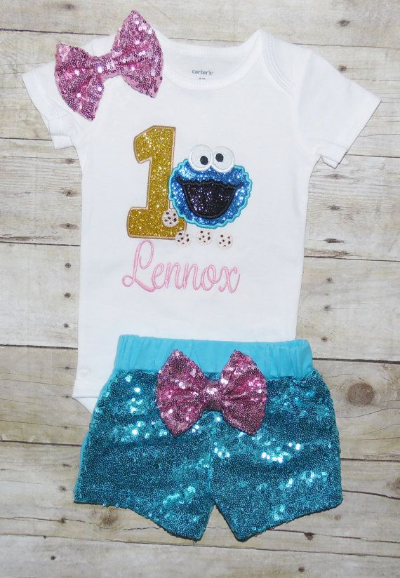 Cookie Monster Birthday Outfit Sesame Street Shirt