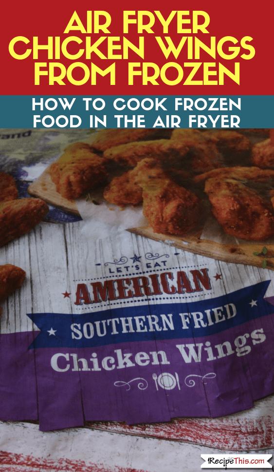 Air Fryer Frozen Chicken Wings Recipe Air Fryer Chicken Wings