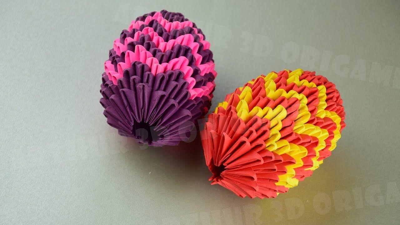 Ostereier Origami