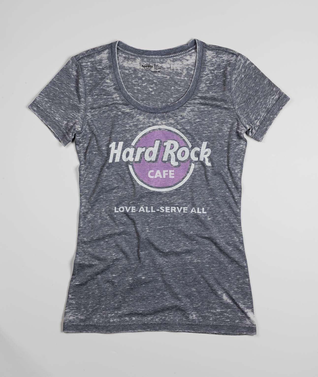 Design t shirt hard rock cafe - Jr Scoop Neck Burnout T Shirt Hard Rock Shop