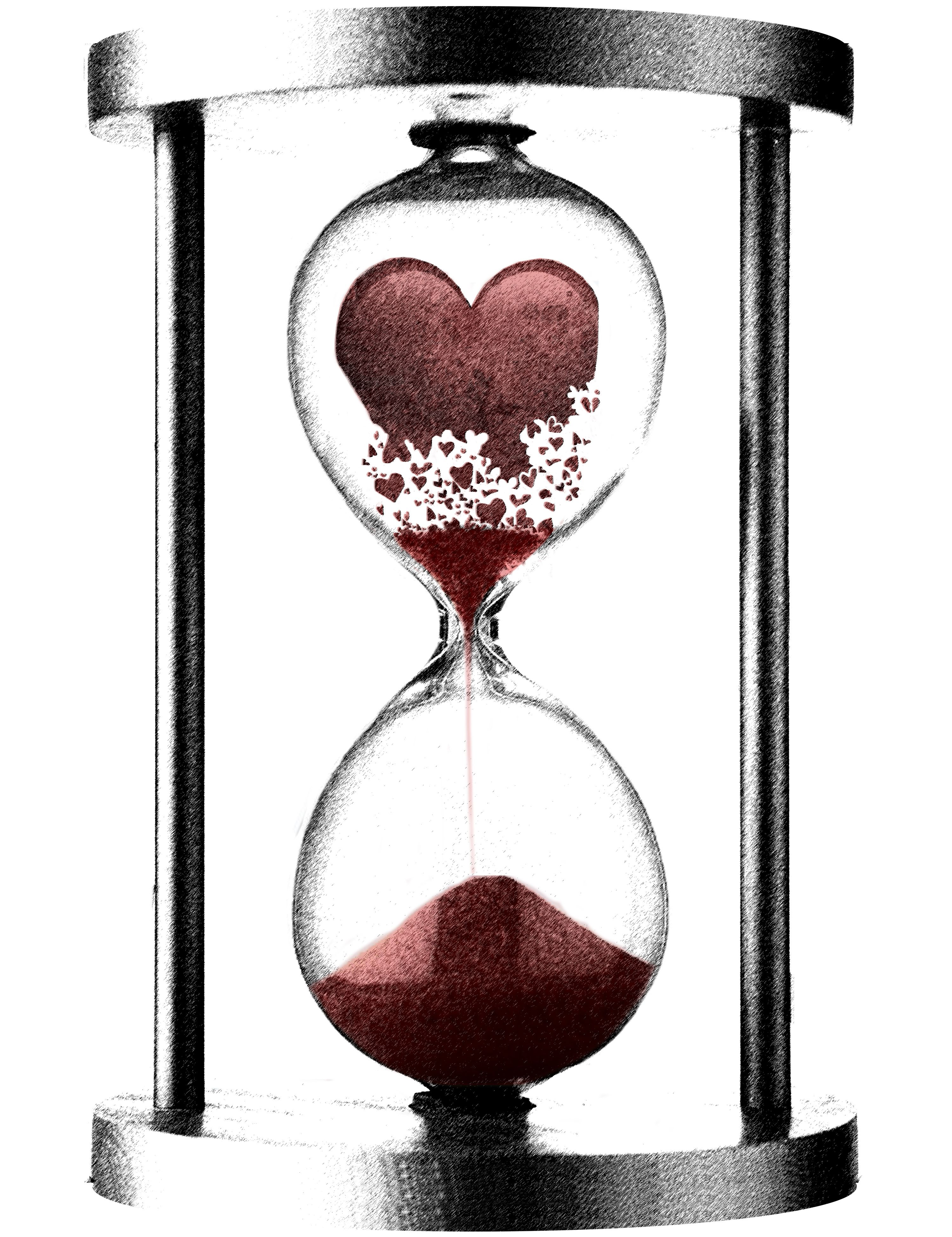 Hour glass crumblinghearthourglassbyscribble14 embrace image detail for crumbling heart hourglass i like this for a tat biocorpaavc Images