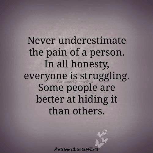 Never underestimate...