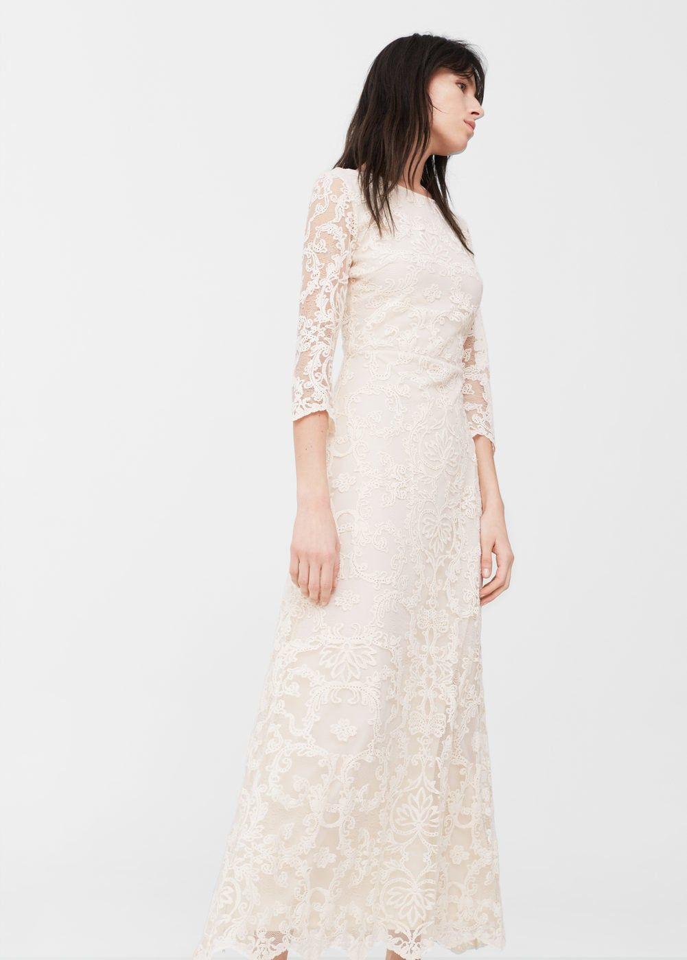 804cb81c93 Hosszú csipkés ruha | MANGO Inspiráció Az Esküvőhöz, Ruha, Esküvői Ruhák,  Női Divat
