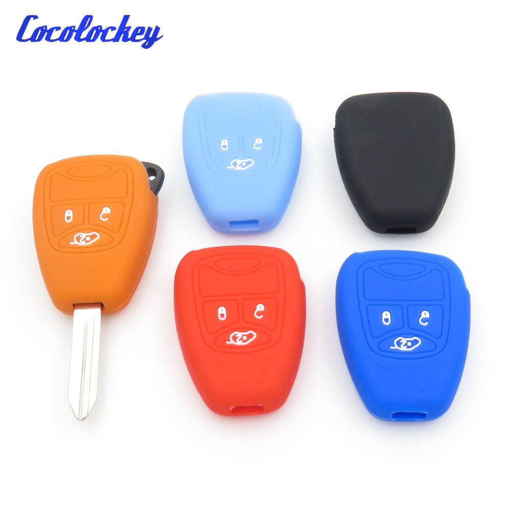 Silicone Car Key Cover For Jeep Chrysler 200 300 Aspen Pt Cruiser