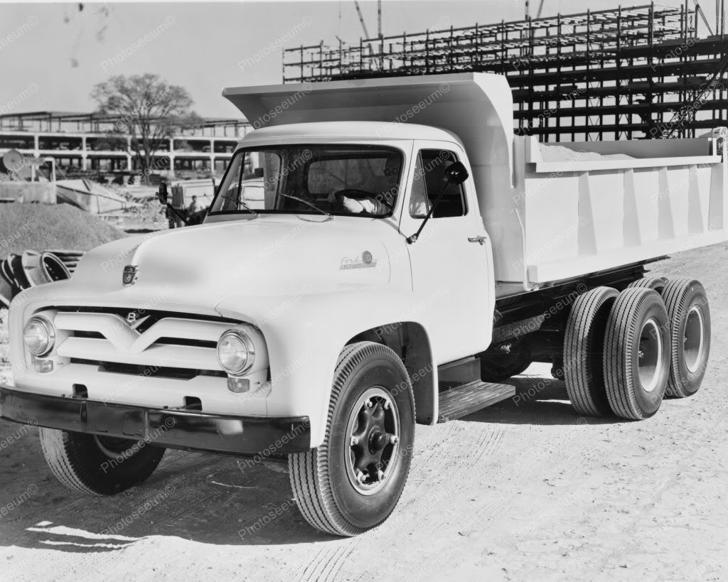 Ford 1955 Dump Truck 8 X10 Old Photo Trucks Pinterest F100 Art Vintage Transportation