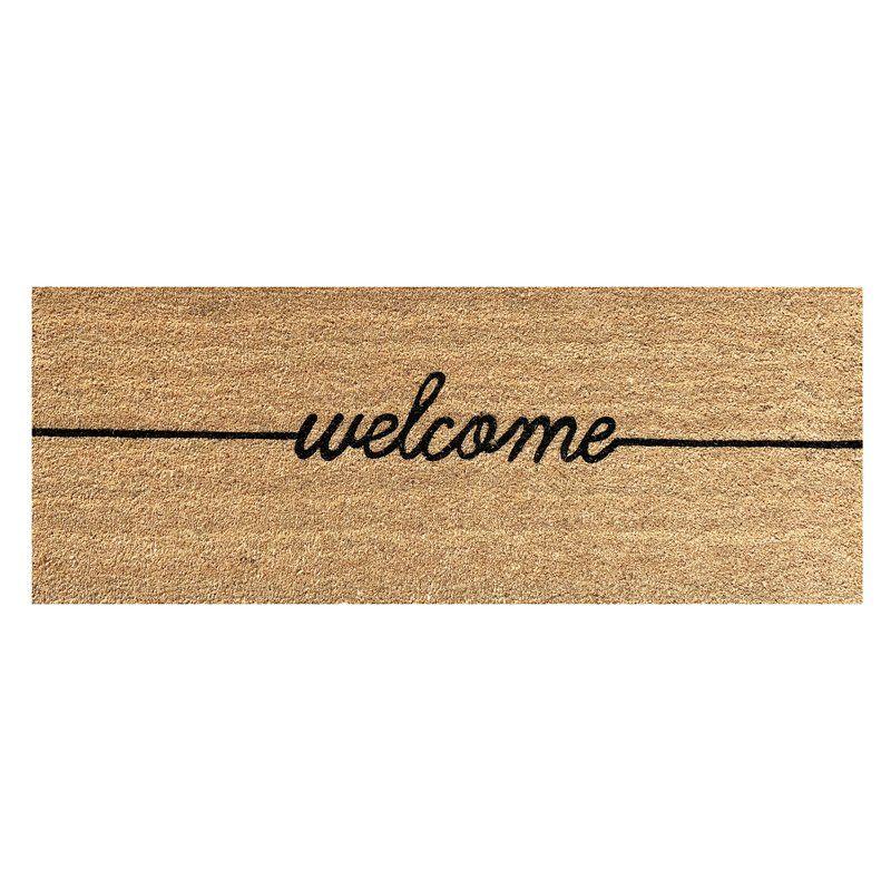 Canora Grey Jodi Welcome Extra Large Coir Double Doormat Reviews Wayfair Outdoor Door Mat Door Mat Large Door Mats