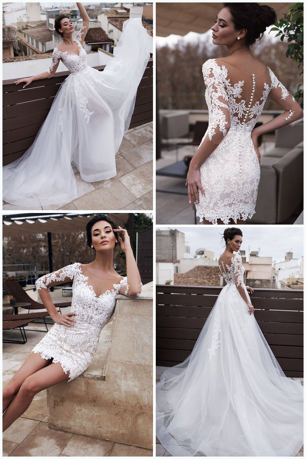 Get Some Inspiration From Our Hot Selling Wedding Dresses Find Your Dream Dress Ea Wedding Dress Detachable Skirt Detachable Wedding Dress Short Wedding Dress