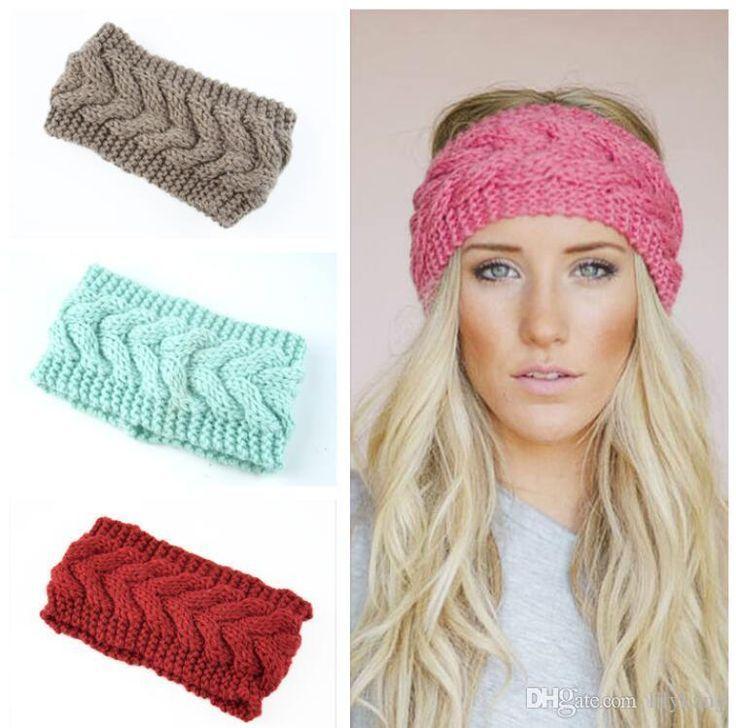 Damen Stirnband Strick Haarband Winter Herbst Ohrenwärmer Kopfband Gehäkelt Mode