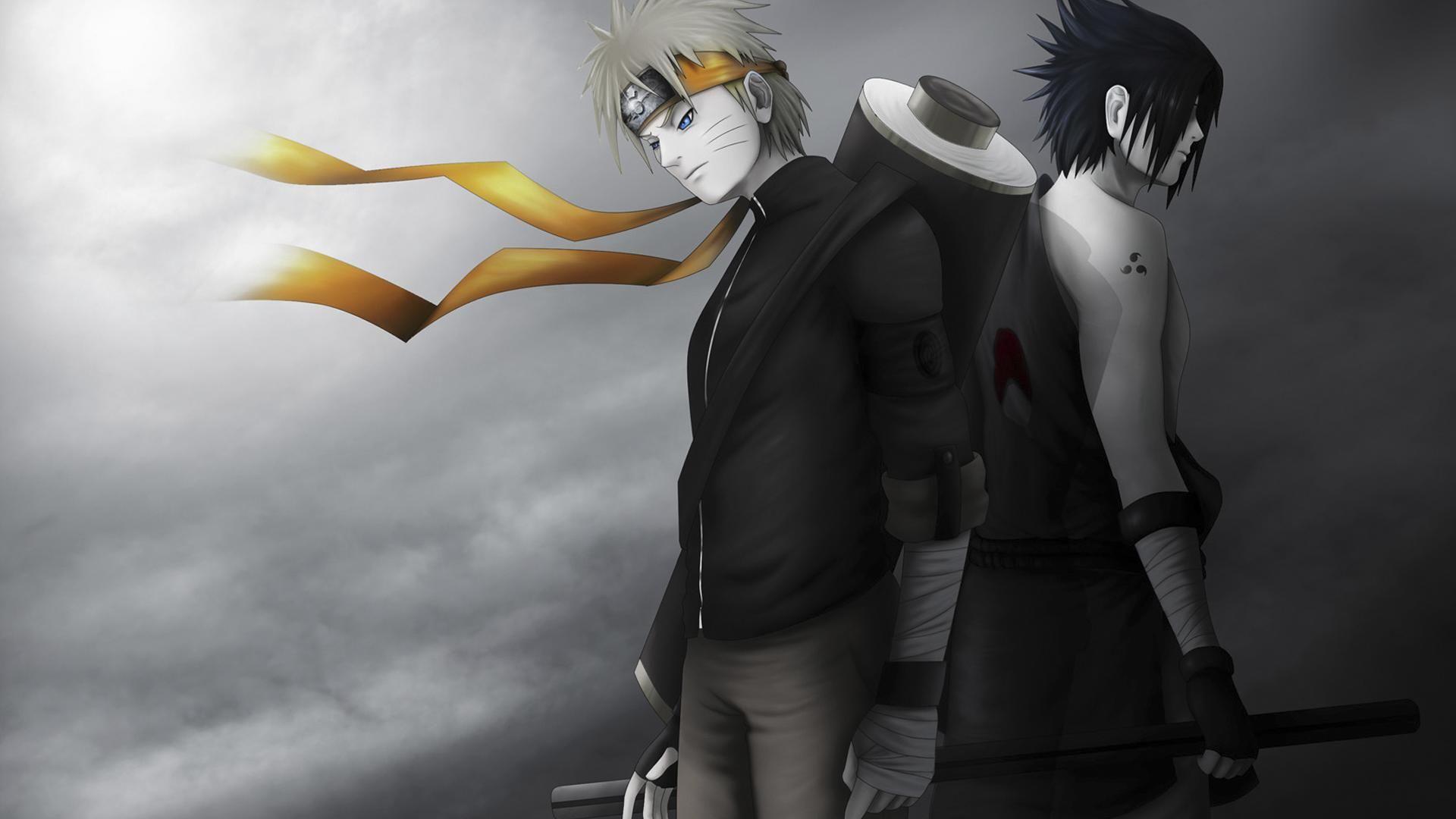 Naruto Sasuke Shippuden Black And White Naruto And Sasuke Wallpaper Wallpaper Naruto Shippuden Naruto Shippuden Hd