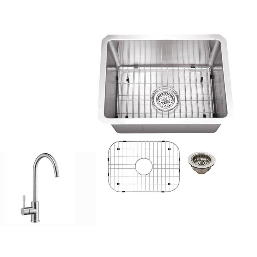 Superior Sinks 20 In L X 15 In W Brushed Satin Stainless Steel Undermount Residential Bar Sink Lowes Com Stainless Steel Undermount Sink Undermount Bar Sink