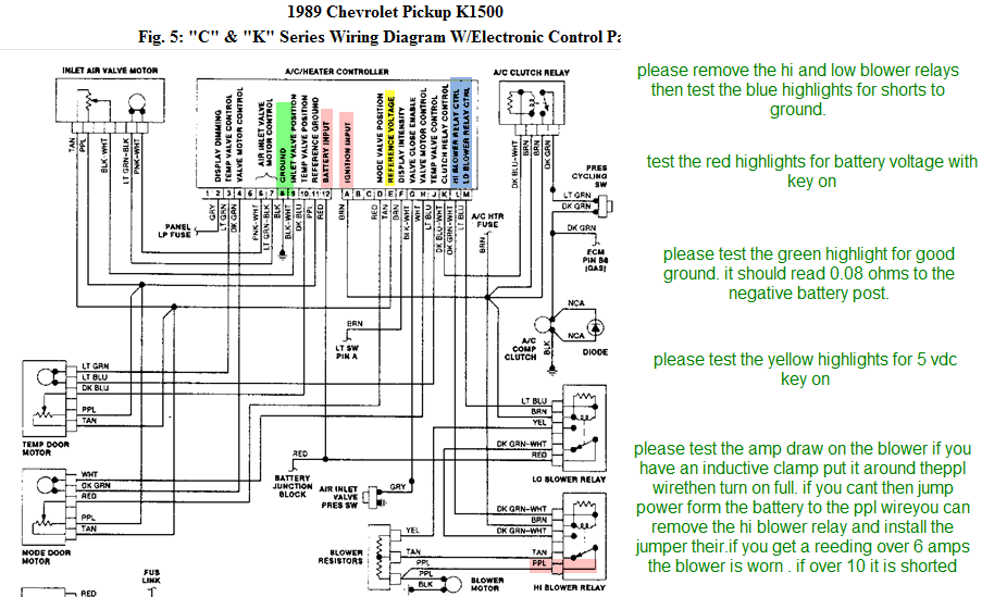 1989 Chevy 1500 4x4 Wiring Diagram | Wiring Diagram on