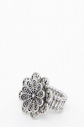 Maxi anillo con flor doble-elarmariodelatele