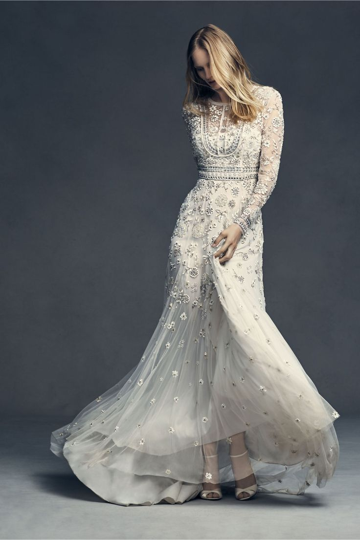 Embellished glam tabitha gown from bhldn vintage wedding dresses