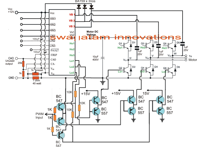 full-bridge PWM based induction motor speed control | Brushless DC