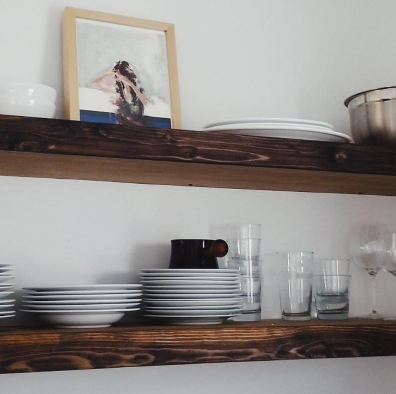 Reclaimed Wood Floating Shelf With Images Floating Shelf Decor Floating Shelves Bedroom Reclaimed Wood Floating Shelves
