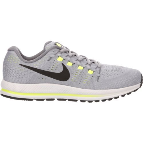 172b82f0580c73 Nike Men s Air Zoom Vomero 12 Running Shoes (Wolf Grey Black Cool Grey Pure  Platinum