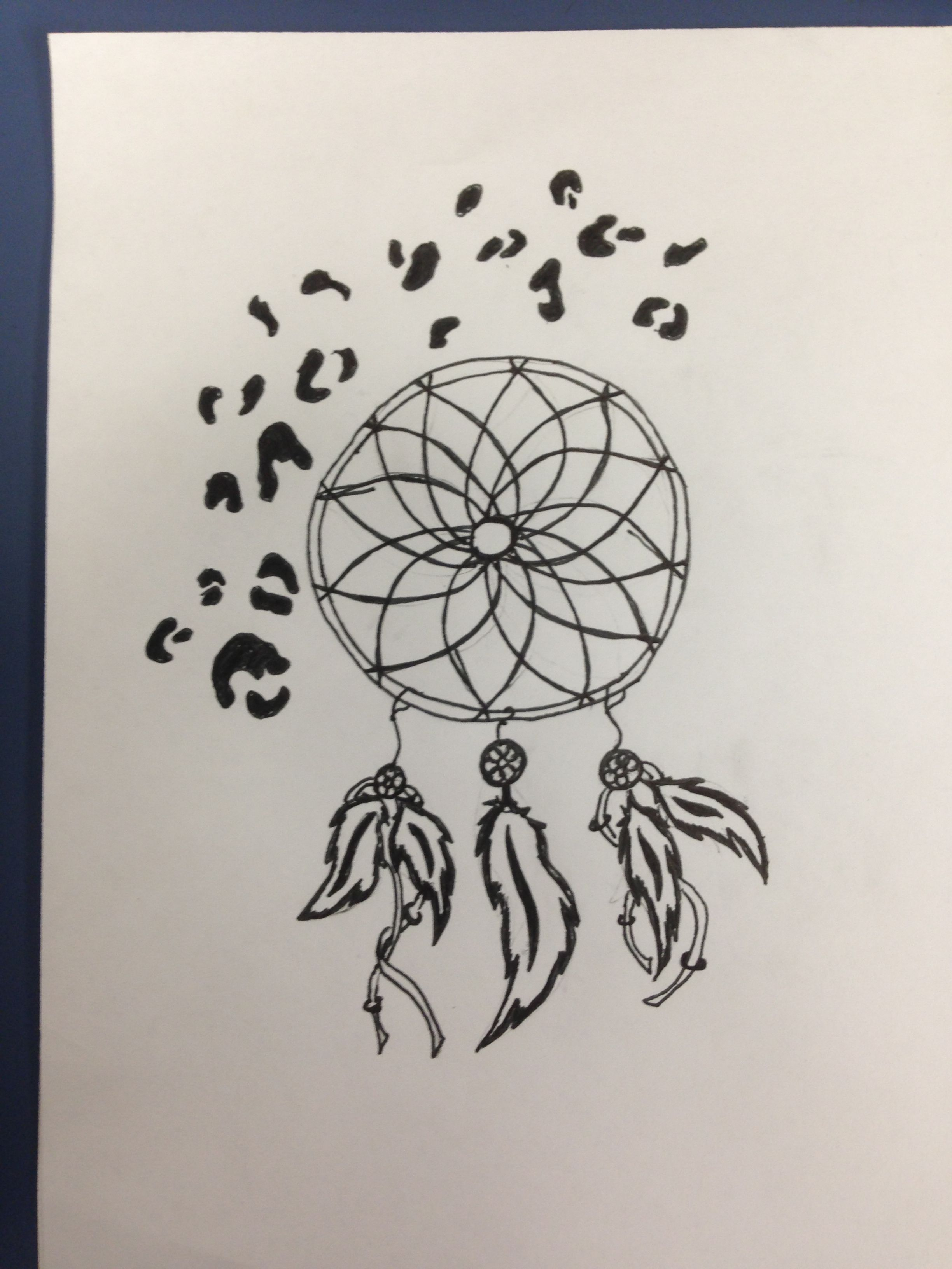 Thinking about adding on to my dream catcher like this with more detail