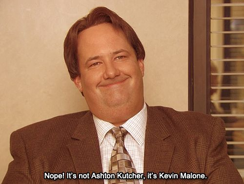 Whoa You Re Telling Me That S Not Ashton Kutcher Mind Blown The Office Ashton Kutcher Kevin