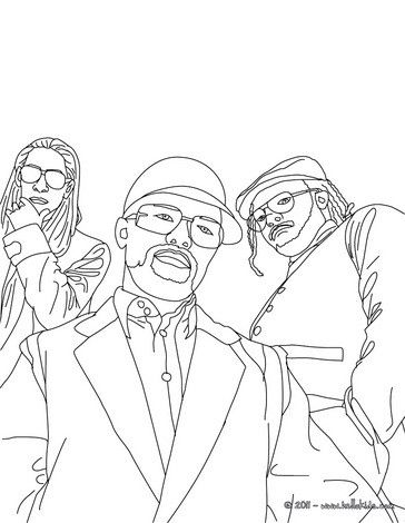 This Will I Am Taboo And Apl De Ap Coloring Page More Black Eyed Peas Coloring Sheets On Hellokids Com People Coloring Pages Coloring Pages Color