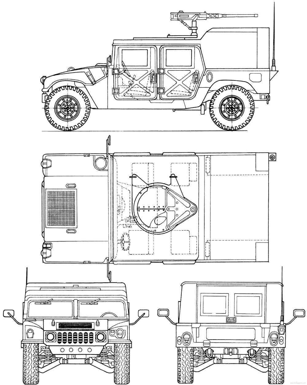 Am General Hmmwv M998 Humvee In 2020 Hummer Blueprints Model Cars Building