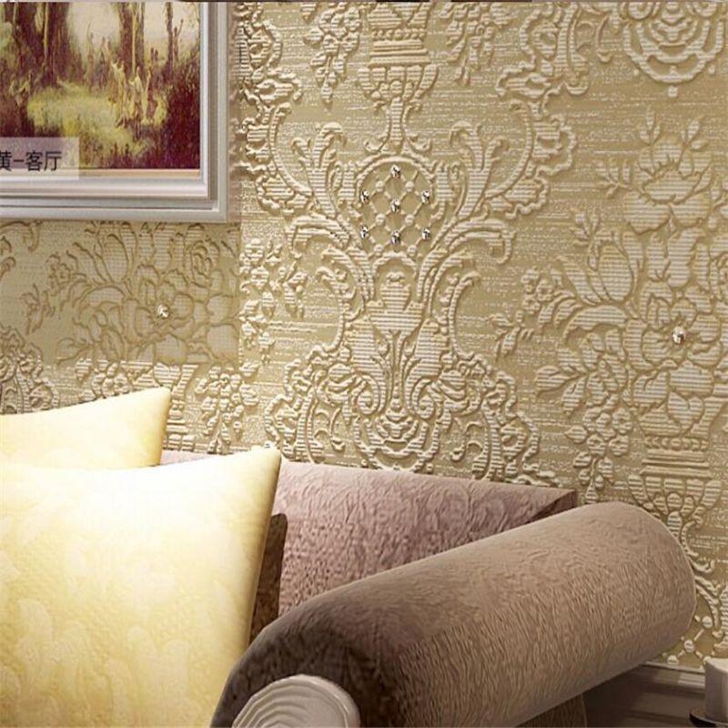 Beibehang European Luxury Diamond Crystal 3D Wallpaper Plant Living Bedroom TV Background For
