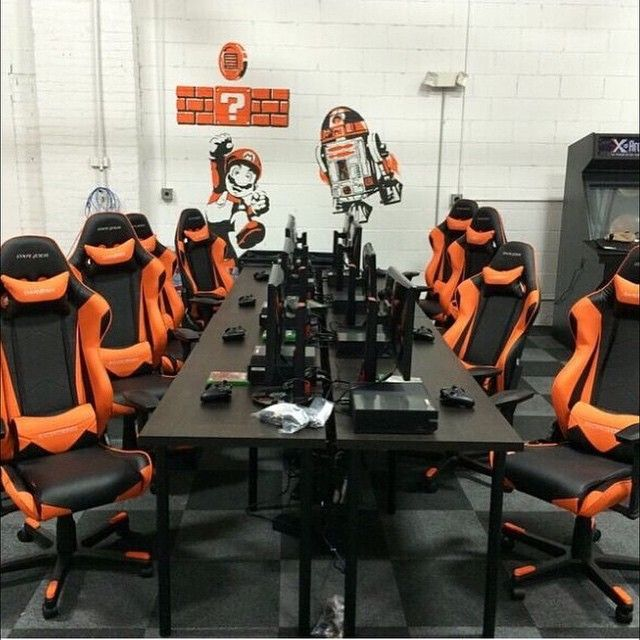 cool room if full of dxracer chairs! https://11main