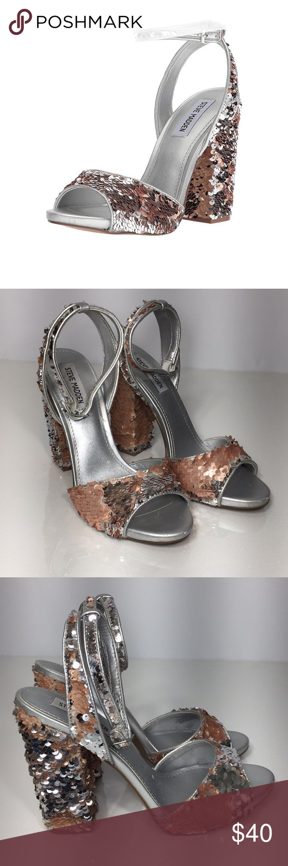 f4d5452f226 Steve Madden Ritzy Sequin Sandal New without box Never worn (tried ...