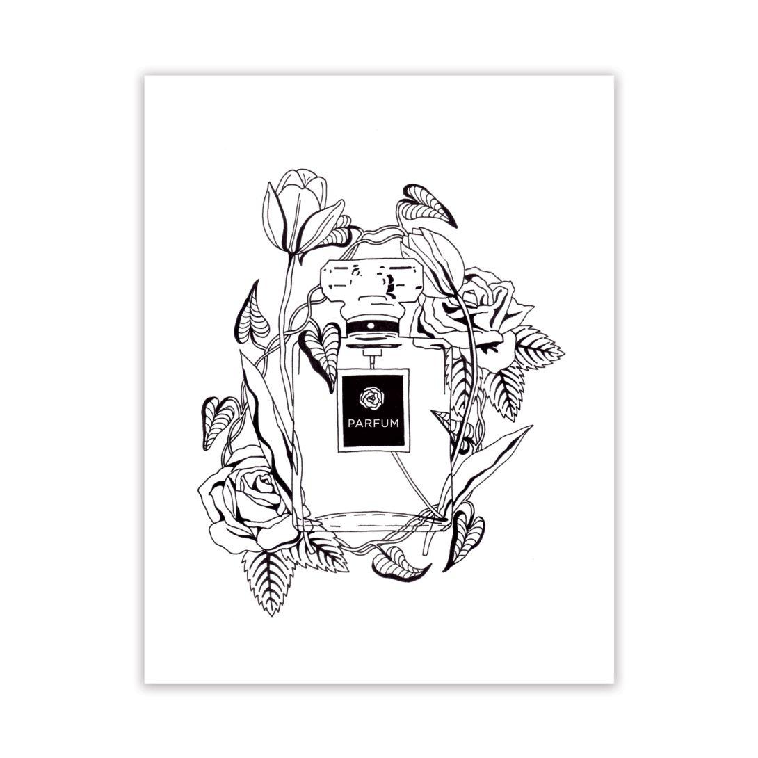 Parfum Et Fleurs Adult Coloring Page