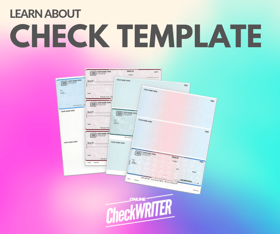 Check Template Blank Check Template. Print Online