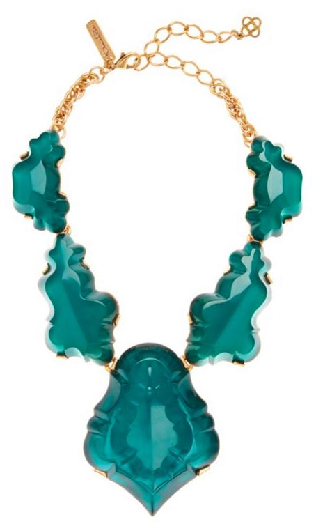 Oscar de la Renta's Resin Chandelier Necklace, $690.00.
