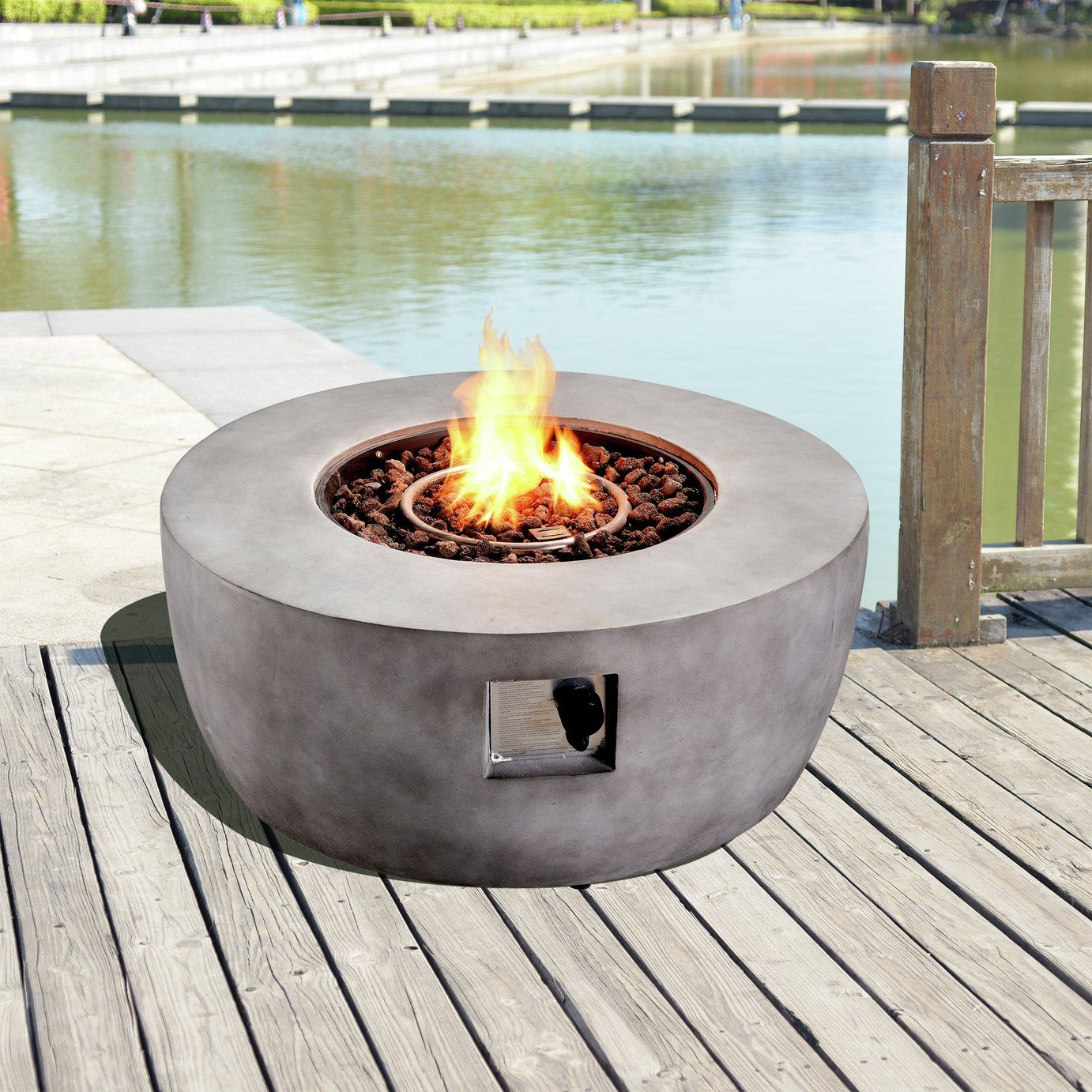 Buy Peaktop Hf36501aa Uk Gas Fire Pit With Cover Fire Pits Argos In 2021 Gas Firepit Propane Fire Pit Fire Pit Contemporary outdoor gas fire pits uk