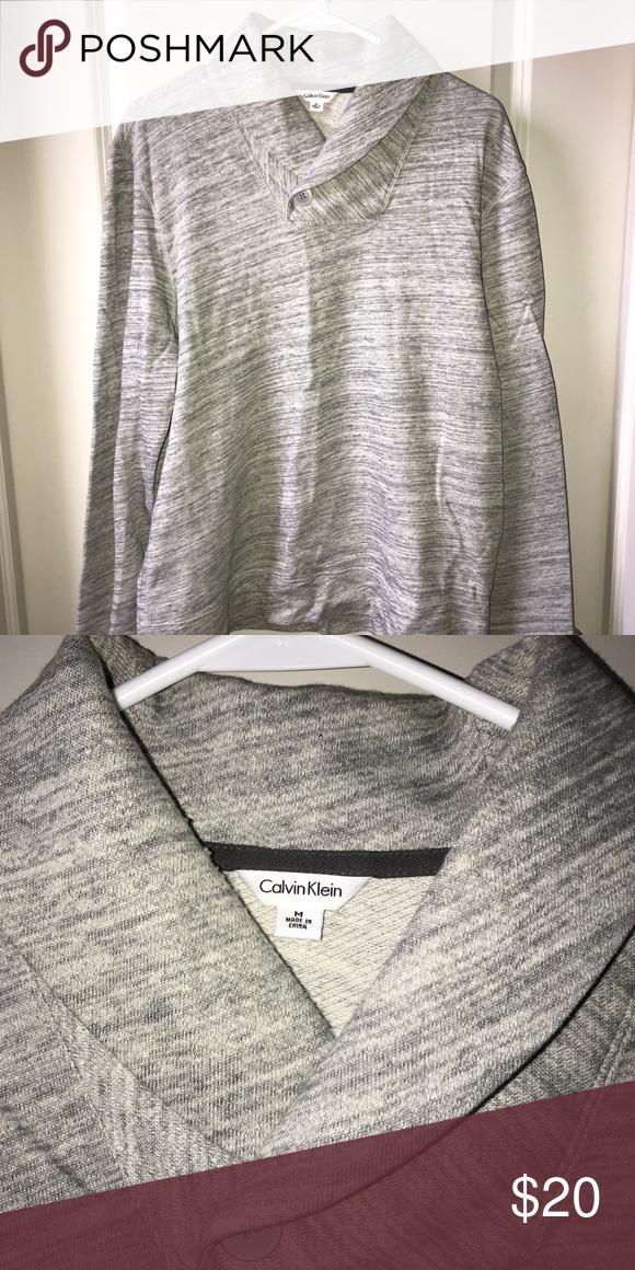 Calvin Klein shawl-collar sweater Pullover sweater Calvin Klein Sweaters 382e5fa17