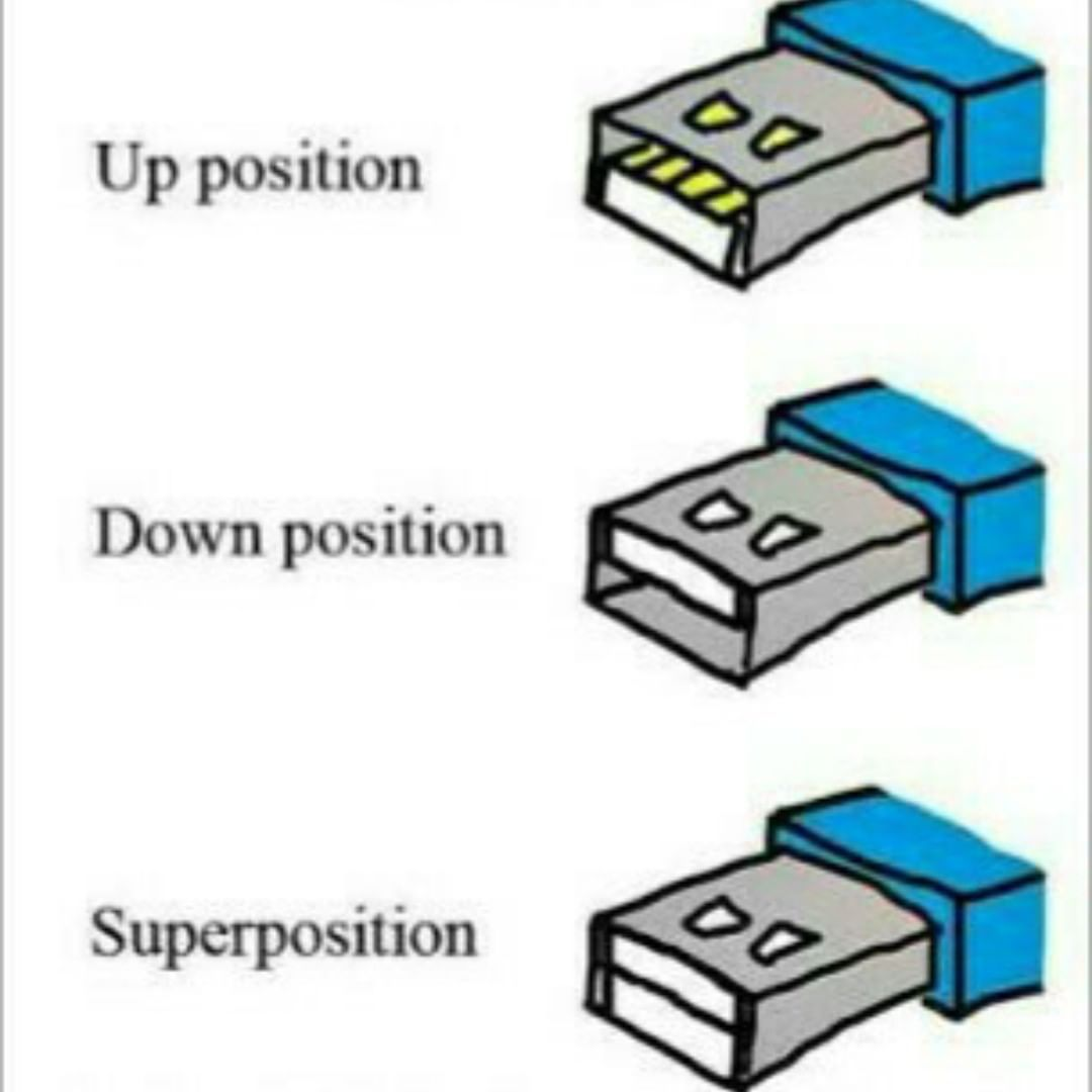 Until The Usb Is Observed It Will Stsy In Its Superposition