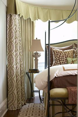Valance, drapes, fabrics, Greek key motif  Cindy Rinfret