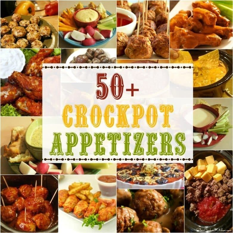 50+ Crockpot Appetizer Ideas! #crockpotappetizers