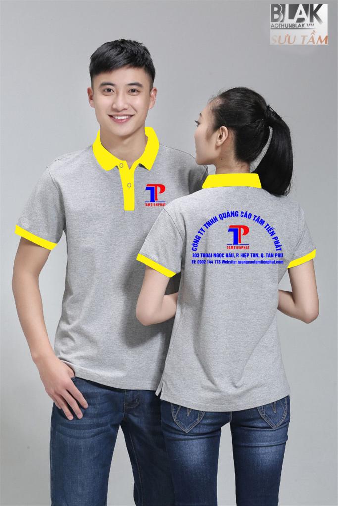 Mẫu áo thun đồng phục công ty Quảng Cáo Tâm Tiến Phát - Hình 1