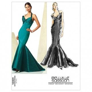 Fishtail Evening Dress Pattern