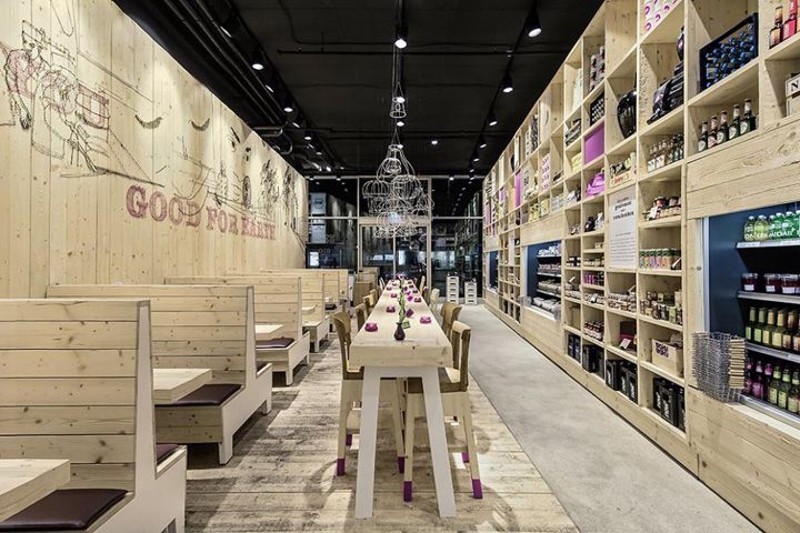 WOODEN STORE INTERIORS! WakuWaku Dammtor by Ippolito Fleitz Group, Hamburg » Retail Design Blog
