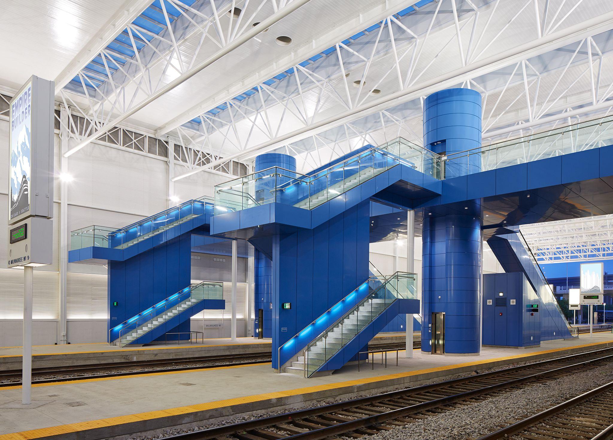Milwaukee Intermodal Station Train Shed & Platforms Milwaukee WI United States Hanno Weber