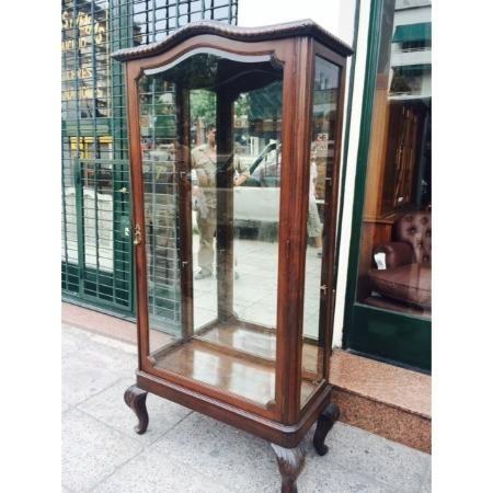 Antigua biblioteca vitrina de roble chippendale con vidrio for Meuble bois de rose prix