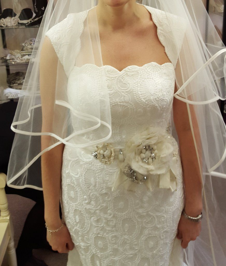 Steven Birnbaum Kaylee Size 8 Used Wedding Dress Front View