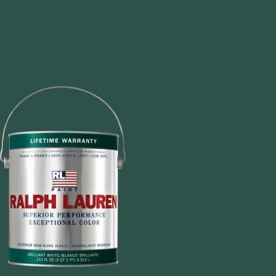3ef324d544546 powder room   Ralph Lauren 1-gal. British Racing Green Semi-Gloss Interior  Paint-RL1591S - The Home Depot