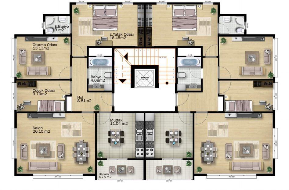 Immeuble appartements plan de villa plans architecturaux plans de maison honda pâtes alimentaires centre commercial architecture