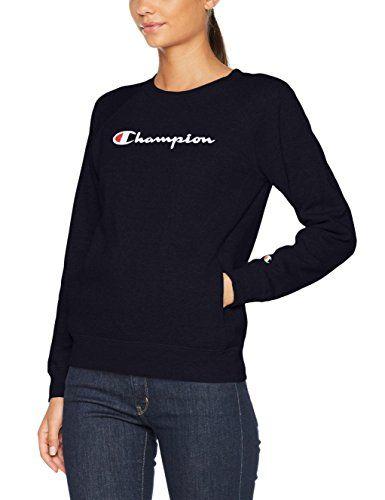 Champion Damen Sweatshirt Crewneck Institutionals Blau (NNY
