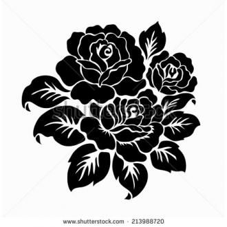 rose #flower #Motif #floral #pattern 7937-vector-rose-motif-flower ...