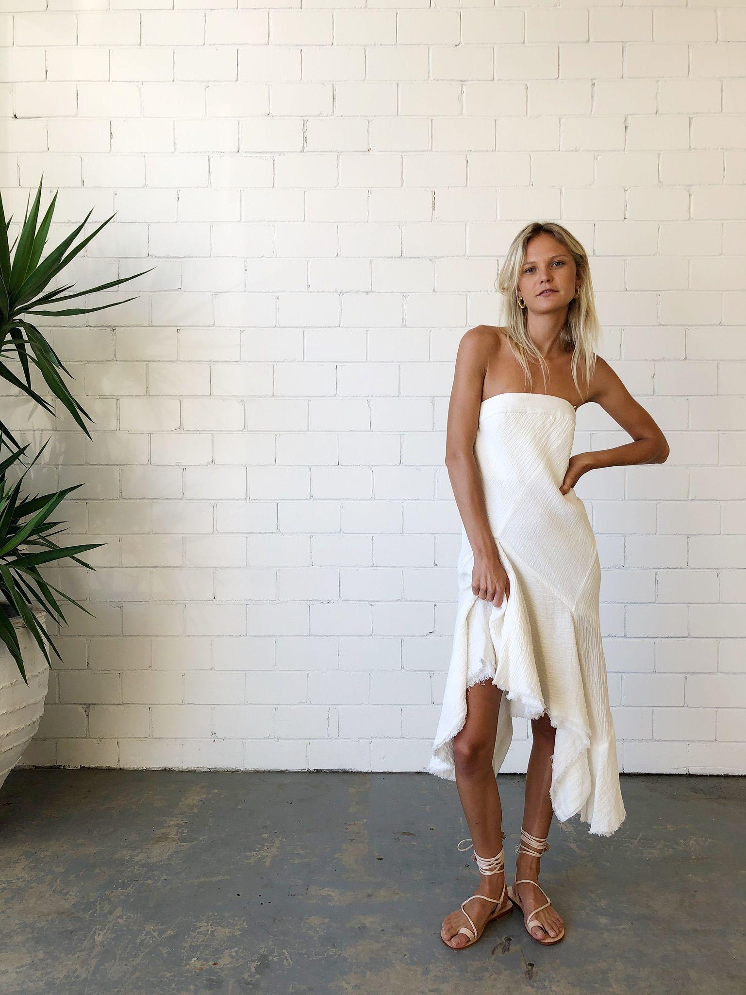 KitX Faithful Keeper Strapless Dress - White