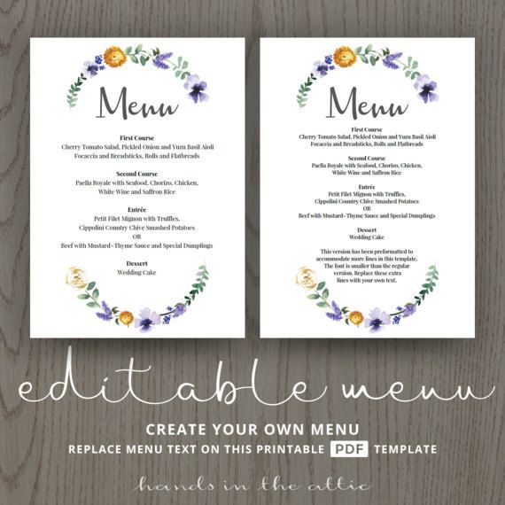Wedding Dinner Menu Cards For Wedding Buffet Menu Ideas Etsy Wedding Menu Template Printable Wedding Buffet Menu Wedding Dinner Menu