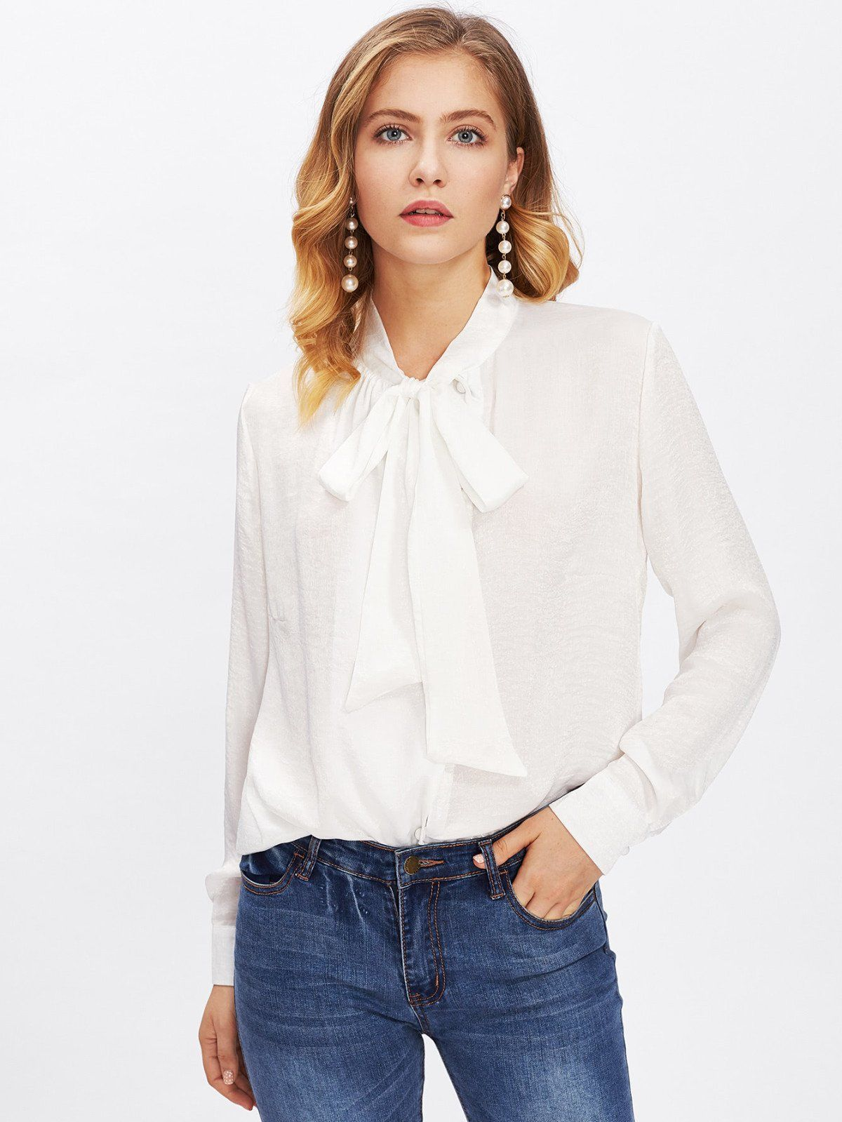 To acquire How to blouse bow tie wear pictures trends