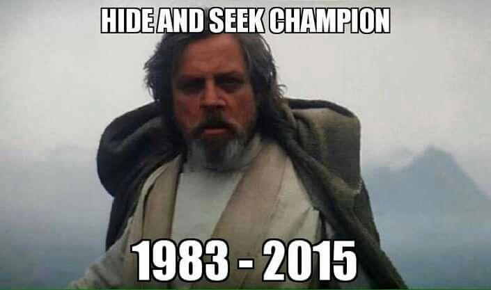 Hide Seek Champion Funny Star Wars Memes Star Wars Humor Star Wars Memes