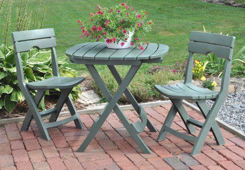 Cafe Bistro Set Patio Garden Furniture Camping Tailgating Durabl